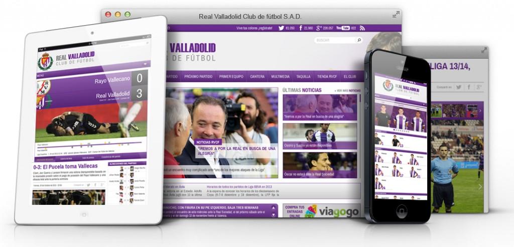 Nueva web Real Valladolid diseñada por digival.es