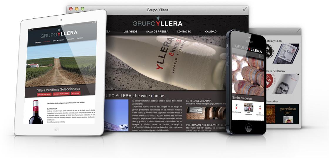 Nueva Web Bodegas Gruipo Yllera diseñada por digival.es