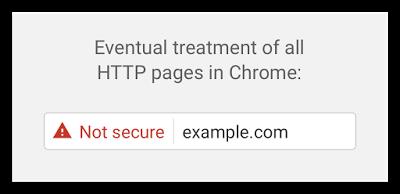 Chrome aviso no seguro