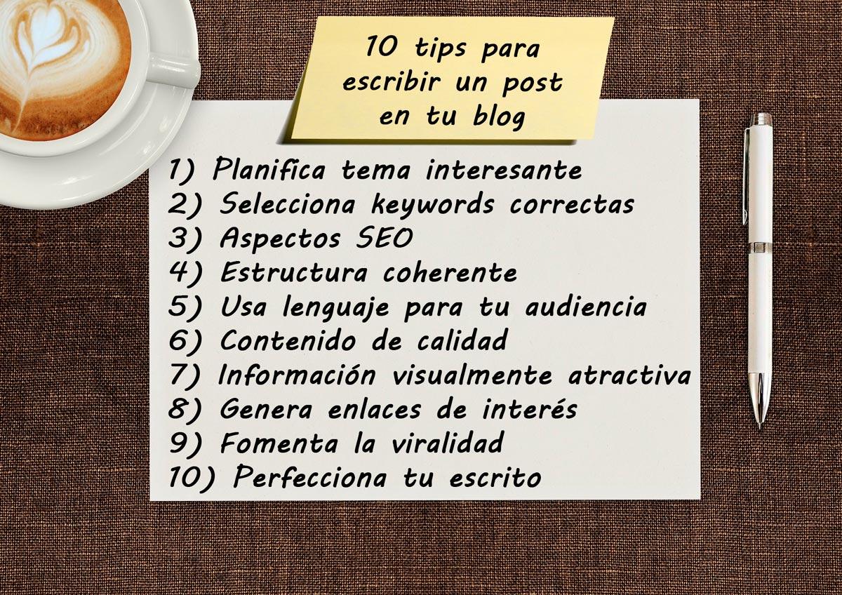 10 consejos sobre como escribir el mejor post